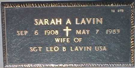 LAVIN, SARAH A. - Maricopa County, Arizona | SARAH A. LAVIN - Arizona Gravestone Photos