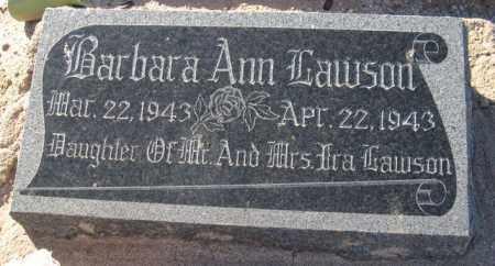 LAWSON, BARBARA ANN - Maricopa County, Arizona | BARBARA ANN LAWSON - Arizona Gravestone Photos