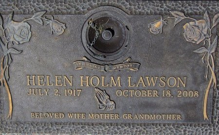 LAWSON, HELEN - Maricopa County, Arizona   HELEN LAWSON - Arizona Gravestone Photos