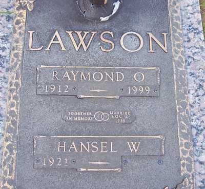 LAWSON, HANSEL W. - Maricopa County, Arizona | HANSEL W. LAWSON - Arizona Gravestone Photos