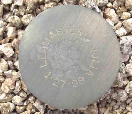 LEAMASTERS, JULIA - Maricopa County, Arizona | JULIA LEAMASTERS - Arizona Gravestone Photos