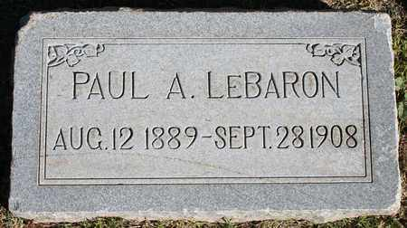LEBARON, PAUL A - Maricopa County, Arizona | PAUL A LEBARON - Arizona Gravestone Photos
