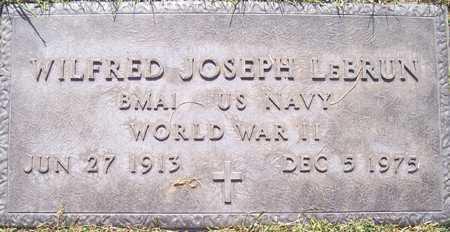 LEBRUN, WILFRED JOSEPH - Maricopa County, Arizona | WILFRED JOSEPH LEBRUN - Arizona Gravestone Photos