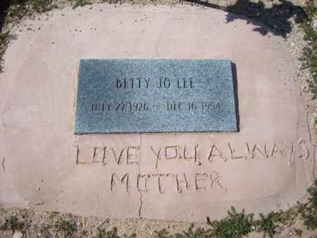 LEE, BETTY JO - Maricopa County, Arizona | BETTY JO LEE - Arizona Gravestone Photos