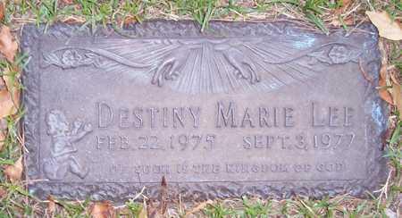 LEE, DESTINY MARIE - Maricopa County, Arizona | DESTINY MARIE LEE - Arizona Gravestone Photos