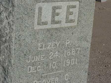 LEE, ELZEY P - Maricopa County, Arizona   ELZEY P LEE - Arizona Gravestone Photos