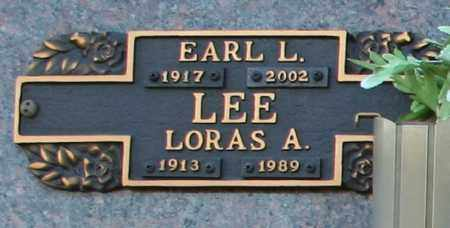 LEE, LORAS A - Maricopa County, Arizona | LORAS A LEE - Arizona Gravestone Photos