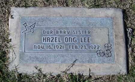 LEE, HAZEL ONG - Maricopa County, Arizona | HAZEL ONG LEE - Arizona Gravestone Photos