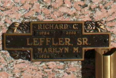 LEFFLER, RICHARD C, SR. - Maricopa County, Arizona | RICHARD C, SR. LEFFLER - Arizona Gravestone Photos