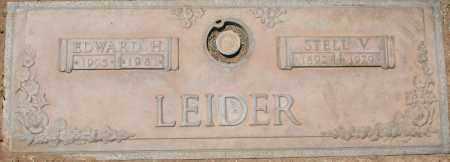 LEIDER, STELL V. - Maricopa County, Arizona   STELL V. LEIDER - Arizona Gravestone Photos