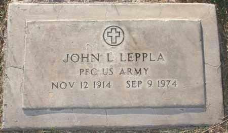 LEPPLA, JOHN L - Maricopa County, Arizona   JOHN L LEPPLA - Arizona Gravestone Photos