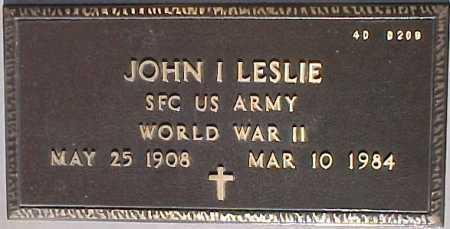 LESLIE, JOHN I. - Maricopa County, Arizona   JOHN I. LESLIE - Arizona Gravestone Photos