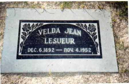 LESUER, VELDA JEAN - Maricopa County, Arizona   VELDA JEAN LESUER - Arizona Gravestone Photos