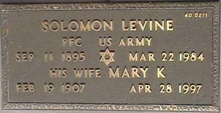 LEVINE, MARY K. - Maricopa County, Arizona | MARY K. LEVINE - Arizona Gravestone Photos