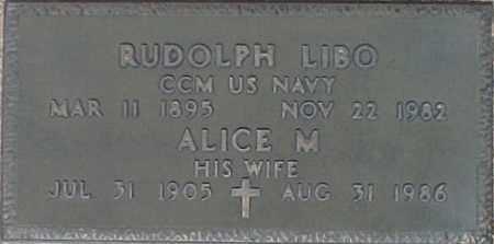 LIBO, RUDOLPH - Maricopa County, Arizona | RUDOLPH LIBO - Arizona Gravestone Photos