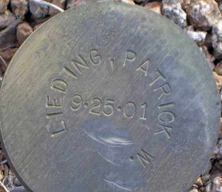 LIEDING, PATRICK W. - Maricopa County, Arizona | PATRICK W. LIEDING - Arizona Gravestone Photos