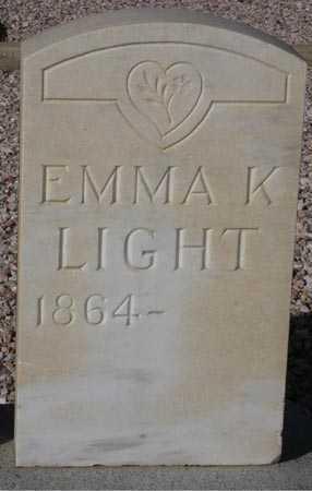 LIGHT, EMMA K. - Maricopa County, Arizona | EMMA K. LIGHT - Arizona Gravestone Photos
