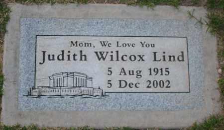 WILCOX LIND, JUDITH - Maricopa County, Arizona | JUDITH WILCOX LIND - Arizona Gravestone Photos