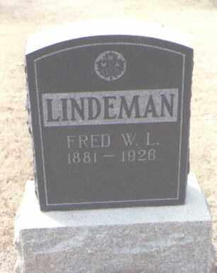 LINDEMAN, FRED W. L. - Maricopa County, Arizona | FRED W. L. LINDEMAN - Arizona Gravestone Photos