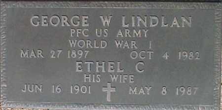 LINDLAN, GEORGE W - Maricopa County, Arizona | GEORGE W LINDLAN - Arizona Gravestone Photos