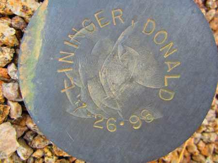 LININGER, DONALD - Maricopa County, Arizona | DONALD LININGER - Arizona Gravestone Photos