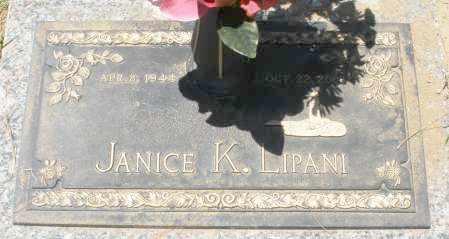 LIPANI, JANICE K. - Maricopa County, Arizona   JANICE K. LIPANI - Arizona Gravestone Photos