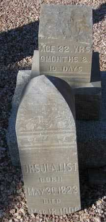 LIST, URSULA - Maricopa County, Arizona | URSULA LIST - Arizona Gravestone Photos