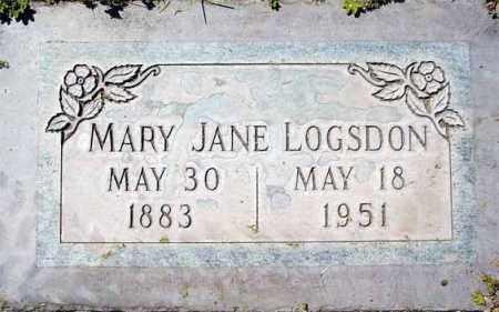 LOGSDON, MARY JANE - Maricopa County, Arizona | MARY JANE LOGSDON - Arizona Gravestone Photos