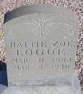 LOGUE, HATTIE ZOE - Maricopa County, Arizona   HATTIE ZOE LOGUE - Arizona Gravestone Photos