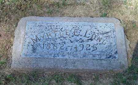 LONG, MYRTLE E - Maricopa County, Arizona   MYRTLE E LONG - Arizona Gravestone Photos