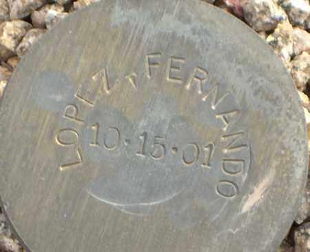 LOPEZ, FERNANDO - Maricopa County, Arizona | FERNANDO LOPEZ - Arizona Gravestone Photos