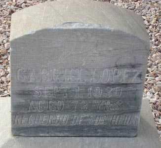 LOPEZ, GABRIEL - Maricopa County, Arizona | GABRIEL LOPEZ - Arizona Gravestone Photos