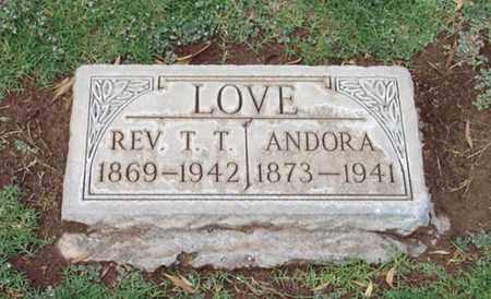 WHITNANT LOVE, ANDORA D. - Maricopa County, Arizona | ANDORA D. WHITNANT LOVE - Arizona Gravestone Photos