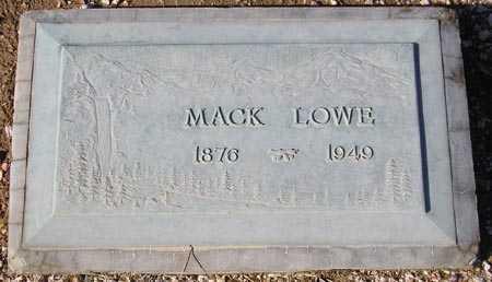 LOWE, MACK - Maricopa County, Arizona   MACK LOWE - Arizona Gravestone Photos