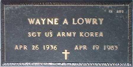 LOWRY, WAYNE A. - Maricopa County, Arizona | WAYNE A. LOWRY - Arizona Gravestone Photos