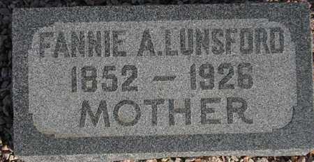 LUNSFORD, FANNIE A. - Maricopa County, Arizona | FANNIE A. LUNSFORD - Arizona Gravestone Photos