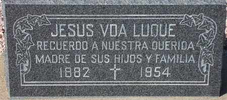 LUQUE, JESUS VDA - Maricopa County, Arizona | JESUS VDA LUQUE - Arizona Gravestone Photos
