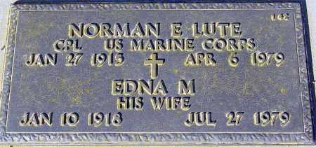 LUTE, EDNA M. - Maricopa County, Arizona | EDNA M. LUTE - Arizona Gravestone Photos
