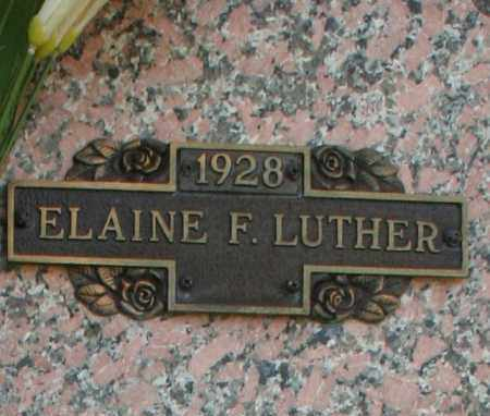 LUTHER, ELAINE F. - Maricopa County, Arizona | ELAINE F. LUTHER - Arizona Gravestone Photos