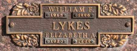 LYKES, WILLIAM F - Maricopa County, Arizona | WILLIAM F LYKES - Arizona Gravestone Photos