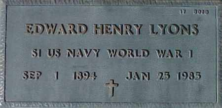 LYONS, EDWARD HENRY - Maricopa County, Arizona | EDWARD HENRY LYONS - Arizona Gravestone Photos