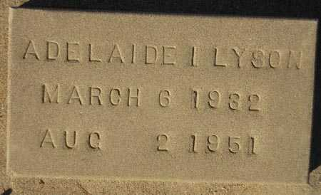 LYSON, ADELAIDE I. - Maricopa County, Arizona | ADELAIDE I. LYSON - Arizona Gravestone Photos