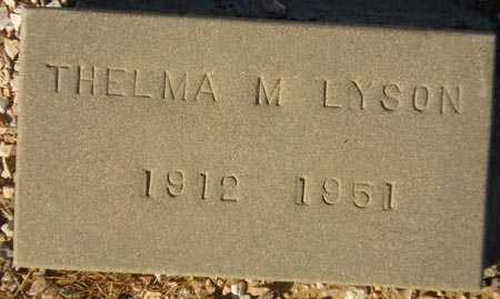 LYSON, THELMA M. - Maricopa County, Arizona | THELMA M. LYSON - Arizona Gravestone Photos