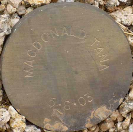 MACDONALD, TANA - Maricopa County, Arizona | TANA MACDONALD - Arizona Gravestone Photos