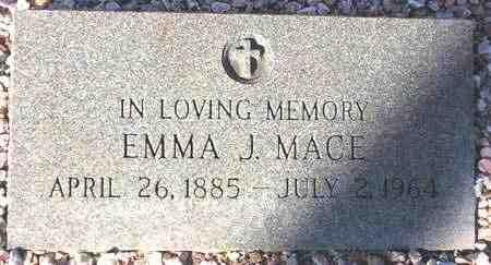 MACE, EMMA J. - Maricopa County, Arizona | EMMA J. MACE - Arizona Gravestone Photos