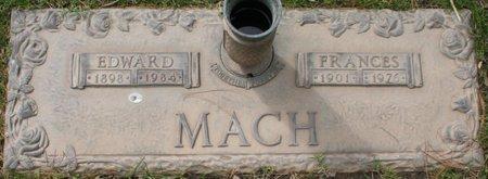 MACH, FRANCES - Maricopa County, Arizona | FRANCES MACH - Arizona Gravestone Photos