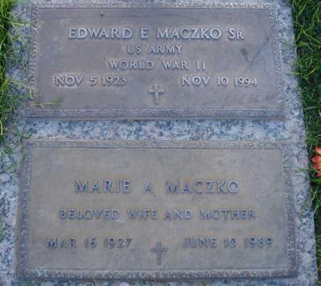 MACZKO, EDWARD E., SR. - Maricopa County, Arizona | EDWARD E., SR. MACZKO - Arizona Gravestone Photos