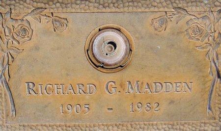 MADDEN, RICHARD G. - Maricopa County, Arizona | RICHARD G. MADDEN - Arizona Gravestone Photos