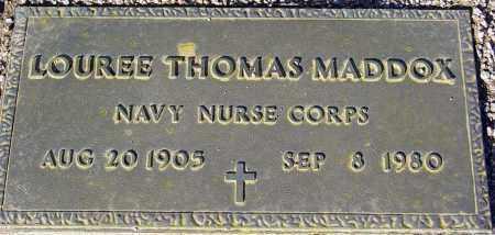 MADDOX, LOUREE THOMAS - Maricopa County, Arizona | LOUREE THOMAS MADDOX - Arizona Gravestone Photos