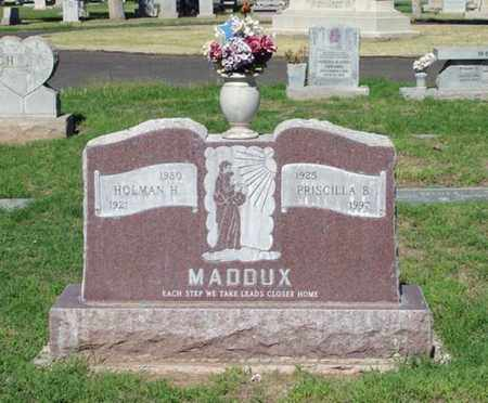 MADDUX, HOLMAN H. - Maricopa County, Arizona | HOLMAN H. MADDUX - Arizona Gravestone Photos